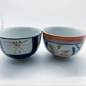Vintage WCL Pottery Ceramic Bowls Hand Painted